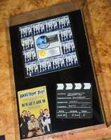 "Musical memorabilia, including the original slate board used in the 1995 Backstreet Boys video ""We've Got It Going On,"" can be found throughout the venue."