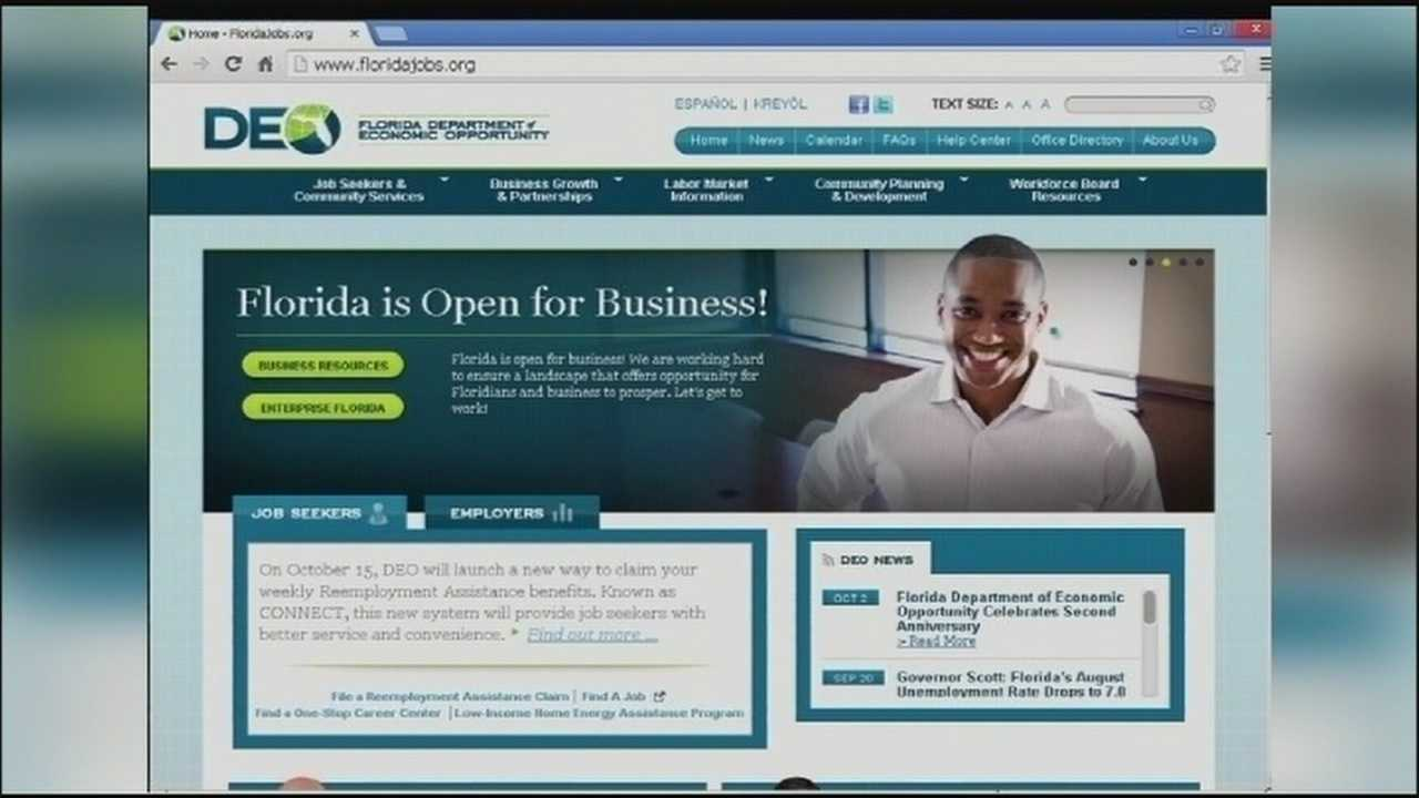 Florida's website for processing unemployment claims has been shut down, while the state switches to a new system.