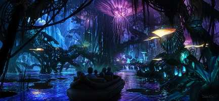 """Guests will encounter awe-inspiring floating mountains and wander through a nighttime jungle of bioluminescent plants that are alive with light and sound,"" said Tom Staggs, Walt Disney World Parks and Resorts chairman."