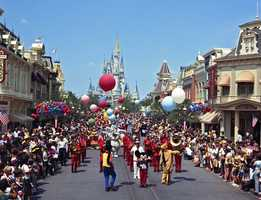 "The ""Cavalcade of Characters"" parade began in 1974. Mickey also led this parade, followed by characters  including Tweedle Dee and Tweedle Dum, and Walrus from ""Alice In Wonderland,"" Donald Duck, Goofy and Pluto, the Dwarfs from ""Snow White and the Seven Dwarfs,"" Snow White and Robin Hood characters."
