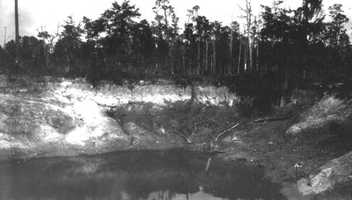 A view of Mr. Langston's sinkhole four miles north of Lake City in 1913.