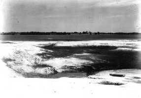 A large limestone sinkhole at Lake Jackson, Fla. in 1932.