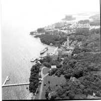 An aerial view of the entire Vizcaya property.