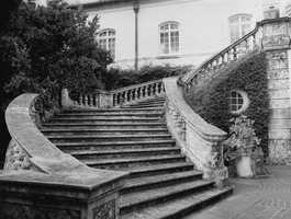 Stairway to get into the main section of the mansion. Photograph taken in 1986.
