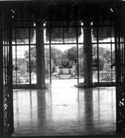 A window looking out into the rest of the estate. Photograph taken in 1980.