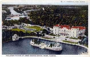 A colored postcard of the property. Did you know that Iron Man 3 was the most recent film shot at this location?