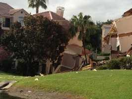 A sinkhole destroyed a building at the Summer Bay Resort in Clermont in 2013.