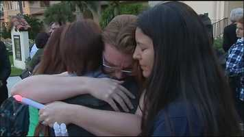 Oct.24 (6:30 p.m.) - A vigil is held at Rollins College for Suarez, who was a student there, and her children.