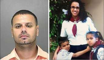 Oct. 22 (afternoon) - Luis Toledo goes to the workplace of his wife, Yessenia Suarez, and hits her during a fight, deputies say. Suarez tells her family that she's afraid of Toledo.