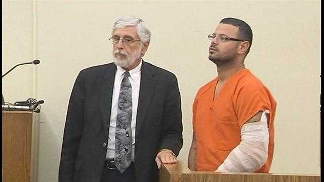Luis Toledo appeared in court on a murder charge in the death of his wife, Yessenia Suarez.