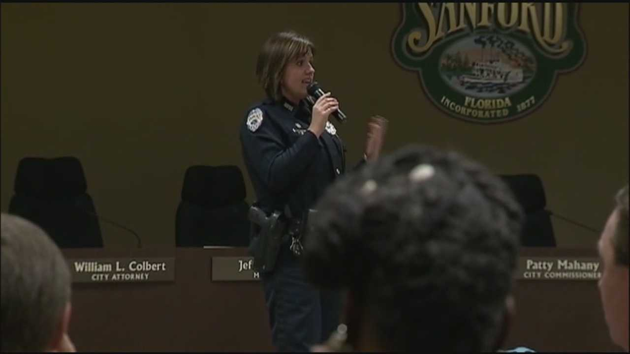 Sanford holds meeting on neighborhood watch gun policy