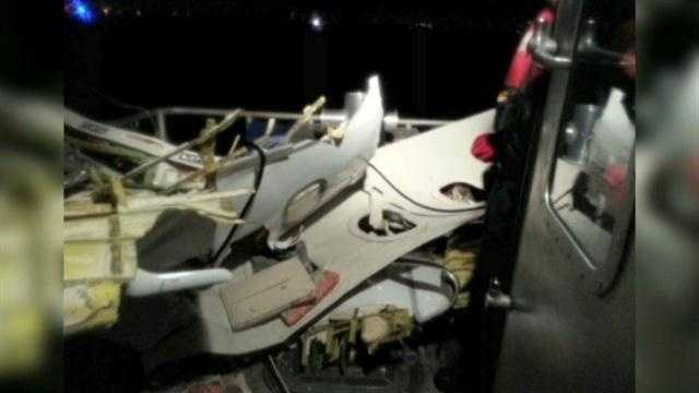 Two people are confirmed dead after a Mexican-registered Learjet 35 crashed off Broward County on Tuesday night, the U.S. Coast Guard said.