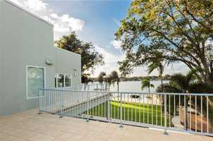 The second-floor balcony is a sweet treat for the homeowner.