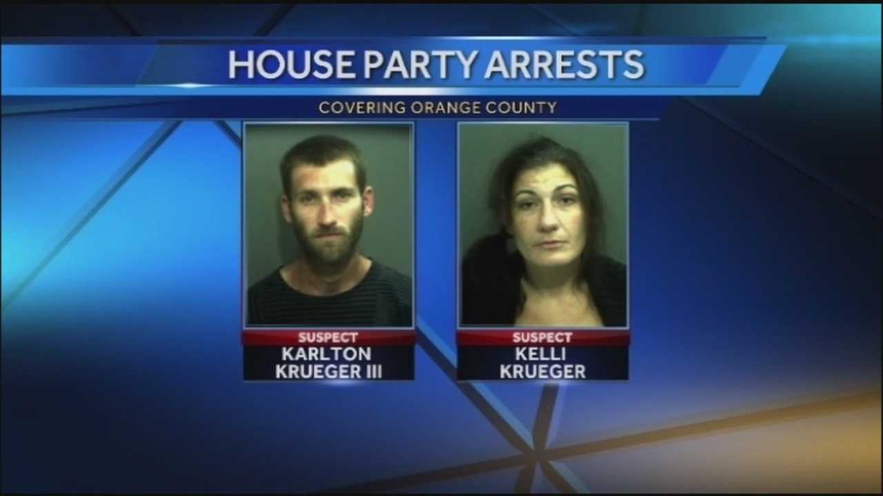 Parents arrested after throwing party