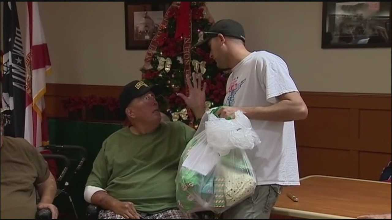 Younger veterans honor nursing home veterans with holiday party, gifts