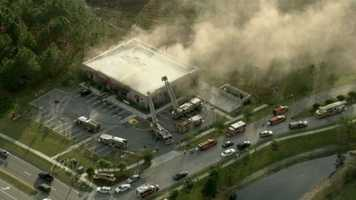 Smoke was billowing from a Family Dollar store on Landstar Boulevard in Orange County on Friday afternoon.