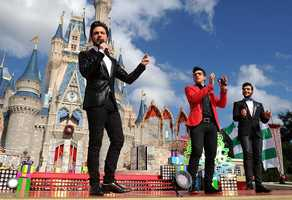 Italian vocal trio Il Volo performs
