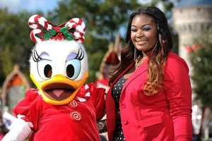 Daisy Duck and American Idol champion Candice Glover