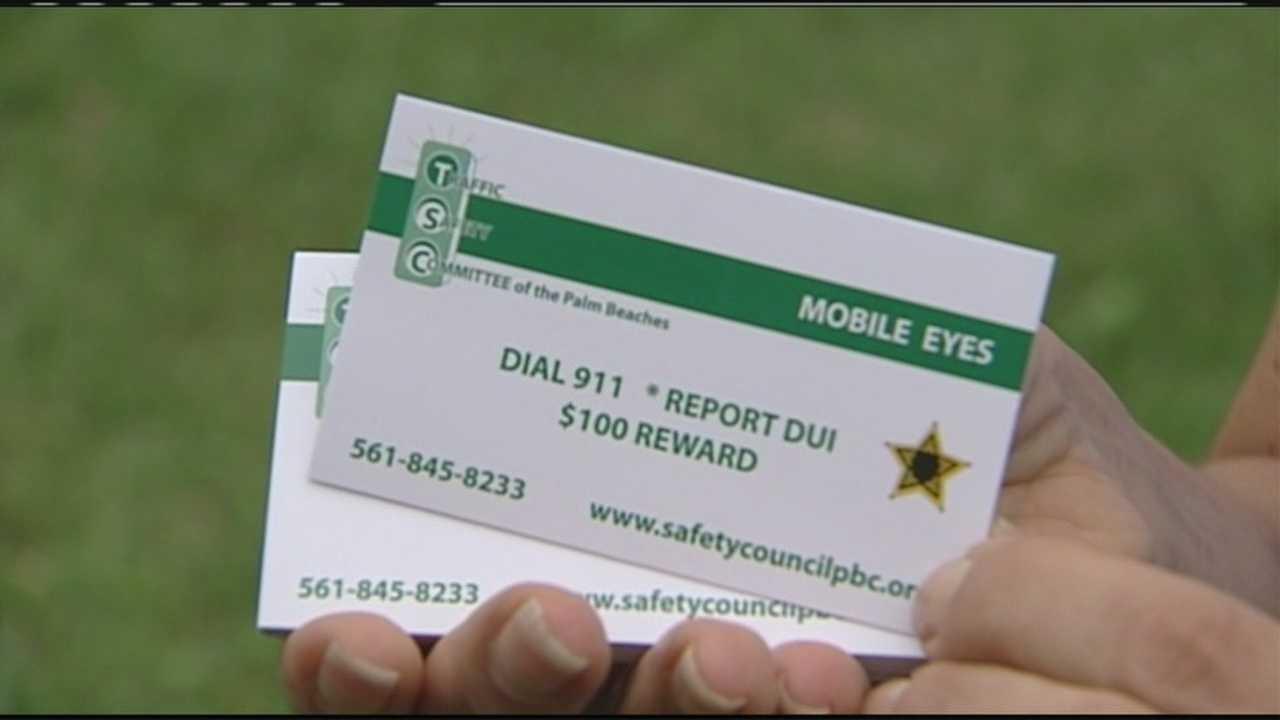Report drunken drivers, earn $100 in cash