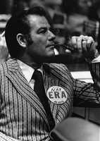 Representative Jim Foster wearing an anti-ERA button.