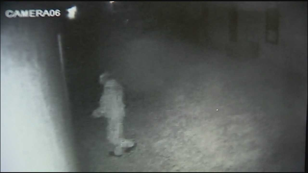 A homeowner caught his neighbor peering through a window on his home surveillance system.