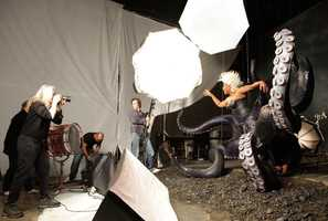 Queen Latifah as UrsulaGo behind the scenes of the Disney Dream Portraits and enter the imagination of acclaimed photographer Annie Leibovitz as she transforms celebrities into Disney characters.