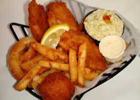 4. Aunt Catfish is a southern seafood joint on the river in Port Orange. Their dishes range from the beer-battered fish basket (pictured) to homemade cinnamon rolls, to Alaskan snow crabs and much more. Aunt Catfish also features salad, fruit, relish buffet, a children's menu, a full bar, outdoor and waterfront dining, handicapped facilities, and summertime entertainment.