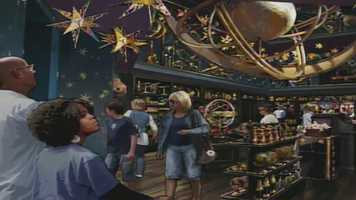 Wiseacre's Wizarding Equipment,where guests can grab wizarding essentials such as telescopes, binoculars, armillary spheres, compasses, magnifying glasses and hourglasses