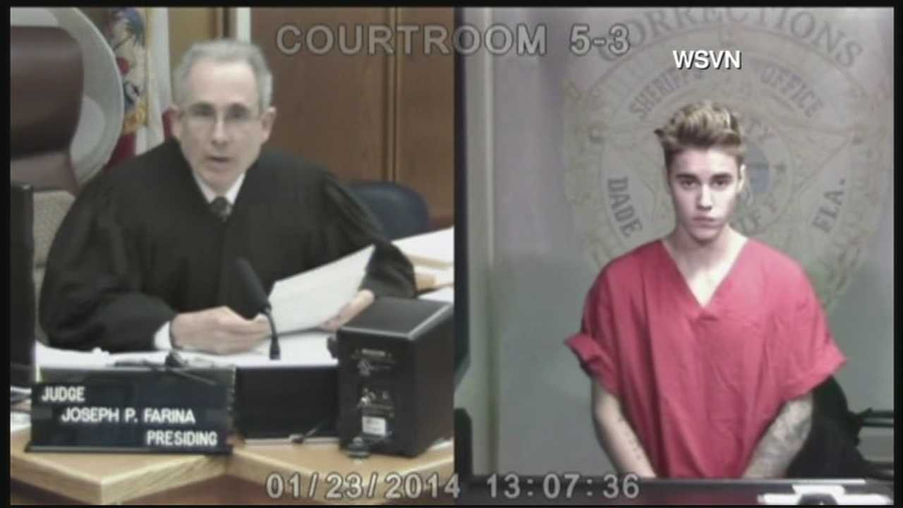 Justin Bieber appeared in court Thursday afternoon after his arrest for DUI and resisting without violence. He was held on $2,500 bond.