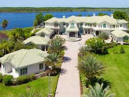 This property sits on 5.55 acres on the Butler Chain of Lakes.
