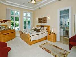The guest suite also includes an en suite bathroom.