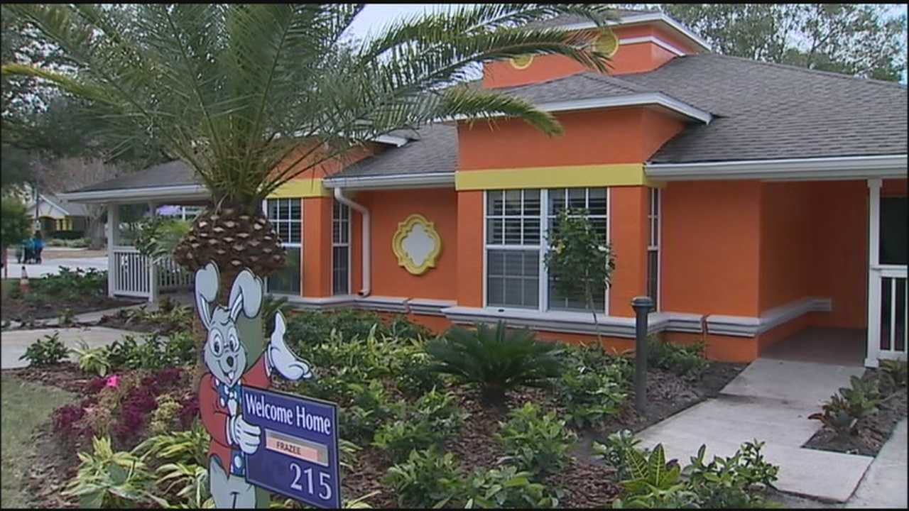 A celebration at Give Kids the World in Kissimmee Sunday marked the end of two weeks of round-the-clock construction to pull off the biggest makeover in the charity's 25-year history.