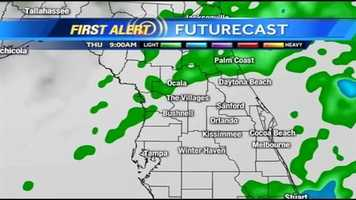 See an hour-by-hour look at rain expected on Thursday.