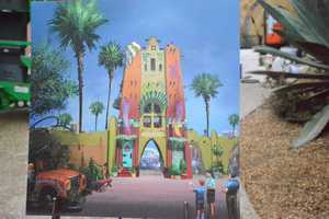 """A rendering of part of the new section of Busch Gardens, """"Pantopia."""""""
