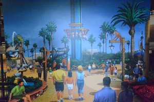 """A rendering of Busch Gardens' newest thrill ride, """"Falcon's Fury."""""""