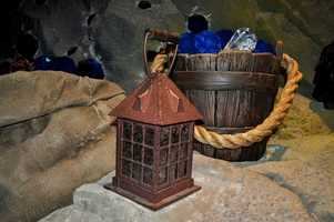 This lantern and bucket of jewels are some of the many props on the new Seven Dwarfs Mine Train that imagineers say will make riders feel like they are one of the dwarfs themselves. The ride will open in 2014.