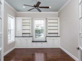 Custom cabinetry to display your prized possessions.