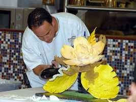 Pastry Chef David Ramirez is well known for his extravagant chocolate creations.