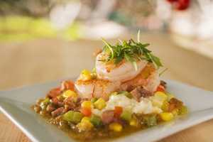 The Florida Fresh kitchen will feature shrimp and stone-ground grits with andouille sausage.