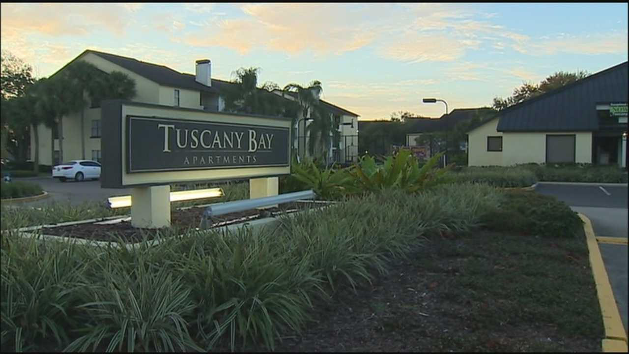 The search is on in Orlando for a man who gave a woman a scare at her apartment.