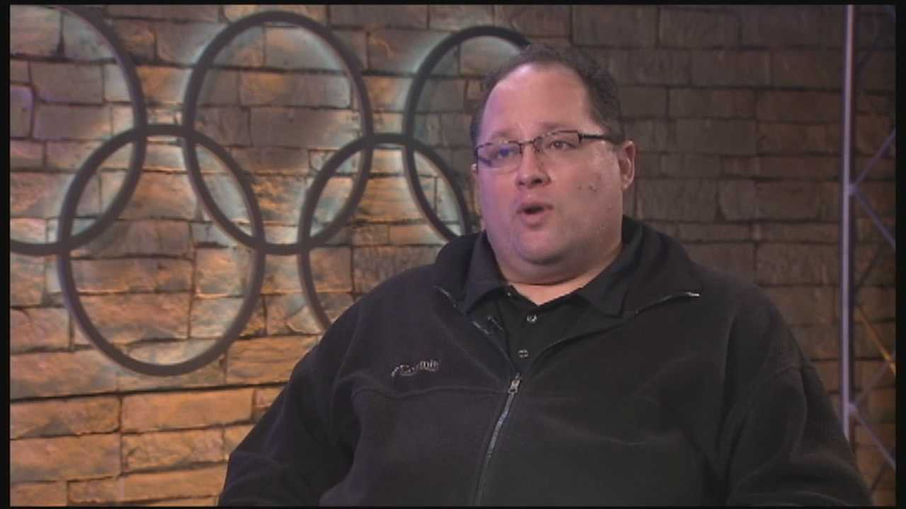 Bill Gahagan is thankful to be able to walk through the NBC hallways in Sochi Wednesday, after a scare that could have quickly cost him his life.