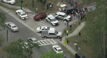 The Seminole County Sheriff's Office said there is no indication that shots were fired at Lake Mary High School.
