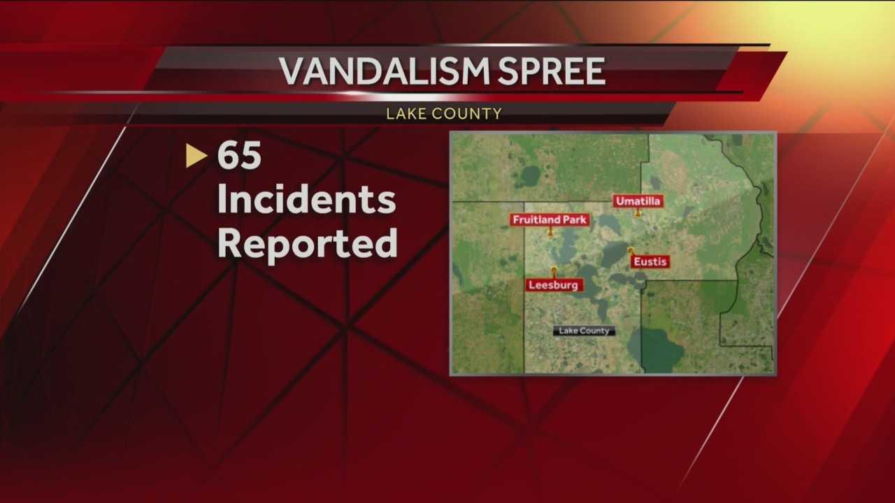 Lake County vandalism spree
