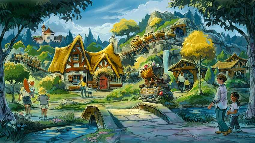The Seven Dwarfs Mine Train, Fantasyland's final addition, will debut this spring.
