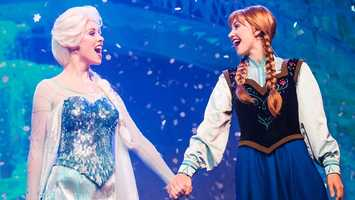 "4. For the First Time in Forever: A Frozen Sing-Along Celebration: Join the ""Frozen"" cast and get ready to sing-along for some frosty tunes with Anna and Elsa. Location: Streets of AmericaDuration: 30 minutes"