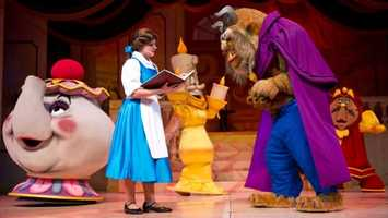1. Beauty and the Beast Live: A production featuring the romantic fairy tale of the Beast and the beloved princess, Belle.Location: Sunset BoulevardDuration: 25 minutes