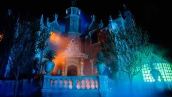 43. Haunted Mansion: A tour through a haunted estate that is home to ghosts, ghouls and supernatural surprisesLocation: Liberty SquareHeight: Any