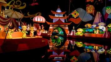 42. It's a Small World: Whimsical boat ride through an assembly of singing children from around the globeLocation: Fantasyland Height: Any