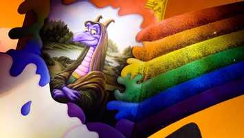 17. Journey into Imagination with Figment: Figment, the purple dragon, guides visitors on a tour through the Imagination InstituteLocation: Future WorldHeight: Any
