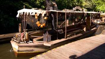 44. Jungle Cruise: Boat adventure on one of the most exotic rivers in Asia, Africa and South America. Location: Adventureland Height: Any